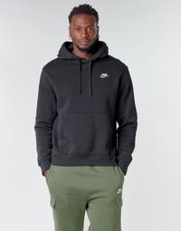 Ruhák Férfi Pulóverek Nike M NSW CLUB HOODIE PO BB Fekete  / Fehér