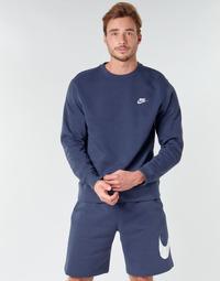 Ruhák Férfi Pulóverek Nike M NSW CLUB CRW BB Kék