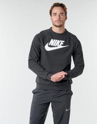 Ruhák Férfi Pulóverek Nike M NSW MODERN CRW FLC HBR Fekete  / Fehér