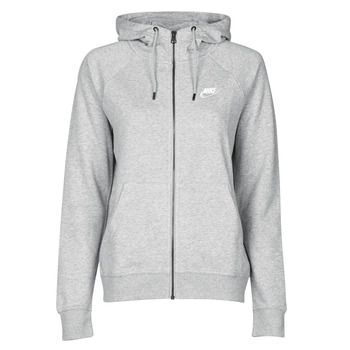 Ruhák Női Pulóverek Nike W NSW ESSNTL HOODIE FZ FLC Szürke