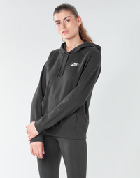 Ruhák Női Pulóverek Nike W NSW ESSNTL HOODIE PO FLC Fekete
