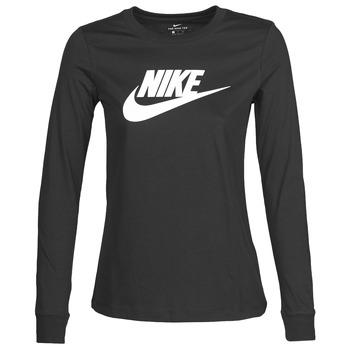 Ruhák Női Hosszú ujjú pólók Nike W NSW TEE ESSNTL LS ICON FTR Fekete