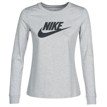 Ruhák Női Hosszú ujjú pólók Nike W NSW TEE ESSNTL LS ICON FTR Szürke