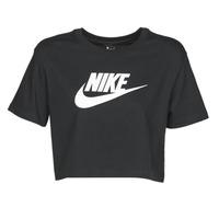 Ruhák Női Rövid ujjú pólók Nike W NSW TEE ESSNTL CRP ICN FTR Fekete