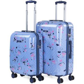 Táskák Keményfedeles bőröndök Skpat MOSOLY 98 L Kék