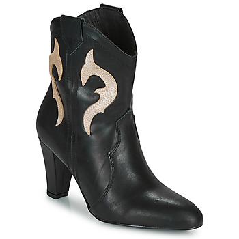 Cipők Női Bokacsizmák Fericelli NARLOTTE Fekete  / Arany