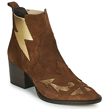 Cipők Női Bokacsizmák Fericelli NAUSSON Bézs / Arany