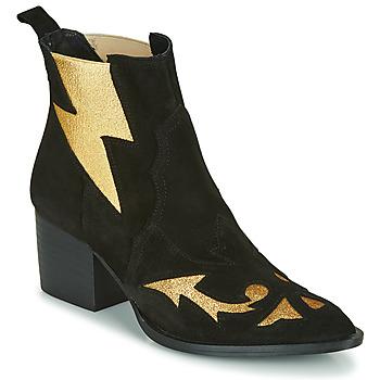 Cipők Női Bokacsizmák Fericelli NAUSSON Fekete  / Arany