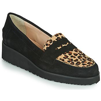 Cipők Női Mokkaszínek Fericelli NECLAIR Fekete  / Állat