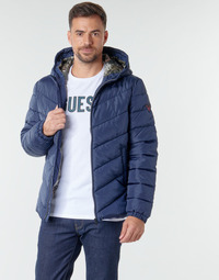 Ruhák Férfi Steppelt kabátok Guess SUPER LIGHT PUFFA JKT Tengerész
