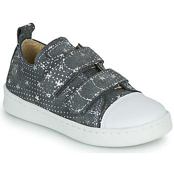 Cipők Lány Rövid szárú edzőcipők Citrouille et Compagnie NADIR Szürke / Ezüst