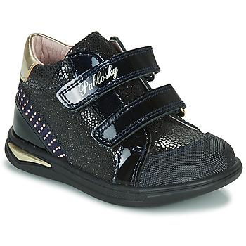 Cipők Lány Magas szárú edzőcipők Pablosky 87529 Tengerész
