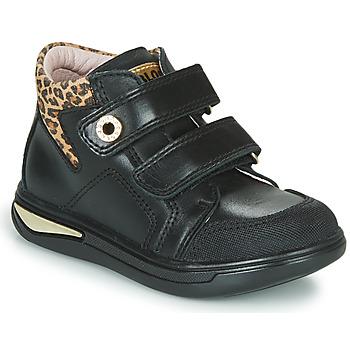 Cipők Lány Magas szárú edzőcipők Pablosky 490611 Fekete  / Leopárd