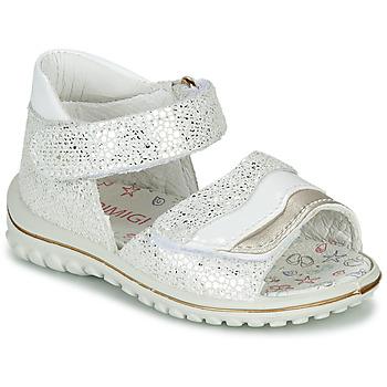 Cipők Lány Szandálok / Saruk Primigi  Fehér / Ezüst