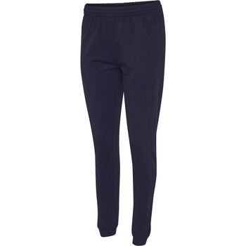 Ruhák Női Futónadrágok / Melegítők Hummel Pantalon femme  hmlgo cotton bleu marine