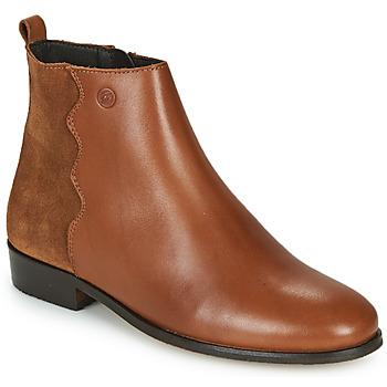 Cipők Női Csizmák Betty London HELOI Teve