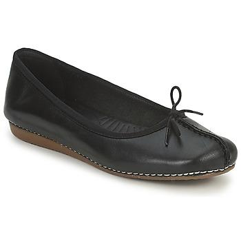 Cipők Női Balerina cipők / babák Clarks FRECKLE ICE Fekete