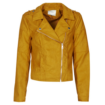 Ruhák Női Bőrkabátok / műbőr kabátok JDY JDYNEW PEACH Mustár sárga
