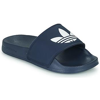 Cipők Gyerek Rövid szárú edzőcipők adidas Originals ADILETTE LITE J Tengerész / Fehér