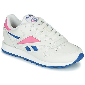 Cipők Rövid szárú edzőcipők Reebok Classic CL LEATHER MARK Fehér / Rózsaszín