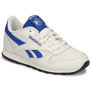 Cipők Gyerek Rövid szárú edzőcipők Reebok Classic CLASSIC LEATHER Fehér / Kék