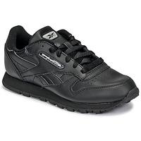 Cipők Gyerek Rövid szárú edzőcipők Reebok Classic CLASSIC LEATHER Fekete