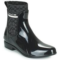 Cipők Női Gumicsizmák Coach RIVINGTON RAIN BOOTIE Fekete