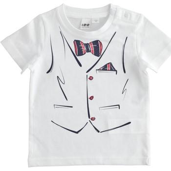 Ruhák Fiú Rövid ujjú pólók Ido 4J692 Bianco
