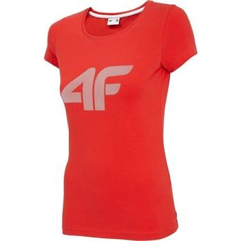 Ruhák Női Rövid ujjú pólók 4F TSD005 Piros