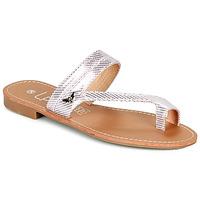 Cipők Női Lábujjközös papucsok Les Petites Bombes EVA Rózsaszín / Ezüst