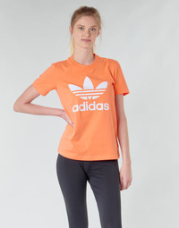 Ruhák Női Pulóverek adidas Originals TREFOIL TEE Narancssárga