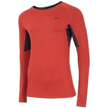 Ruhák Férfi Hosszú ujjú pólók 4F TSMLF002 Narancssárga
