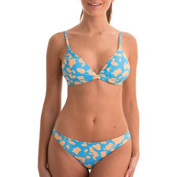 Ruhák Női 2 részes fürdőruhák Back Bloom BB200 BLEU Kék
