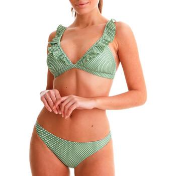 Ruhák Női 2 részes fürdőruhák Back Bloom BB210 VERT Zöld