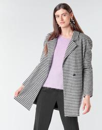 Ruhák Női Kabátok Betty London NIVER Fekete  / Fehér