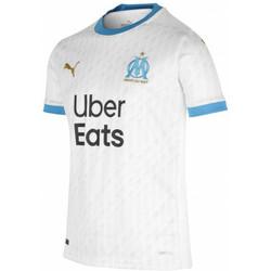 Ruhák Fiú Rövid ujjú pólók Puma Maillot domicile enfant OM 2020/21 blanc/bleu azur