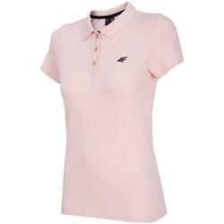 Ruhák Női Rövid ujjú galléros pólók 4F TSD007 Rózsaszín