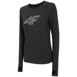 Ruhák Női Hosszú ujjú pólók 4F TSDLF001 Fekete