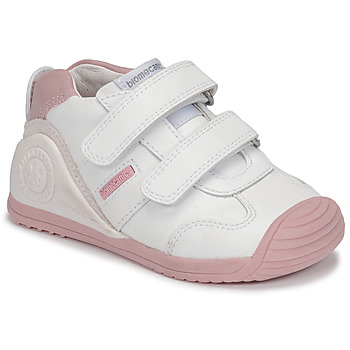Cipők Lány Rövid szárú edzőcipők Biomecanics BIOGATEO SPORT Fehér / Rózsaszín