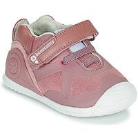 Cipők Lány Rövid szárú edzőcipők Biomecanics ZAPATO ELASTICO Rózsaszín
