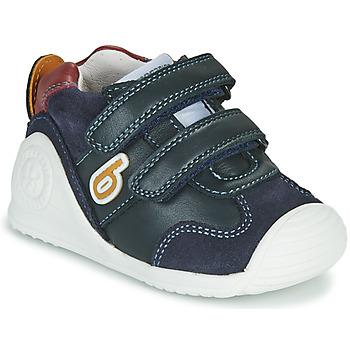 Cipők Fiú Rövid szárú edzőcipők Biomecanics ZAPATO SPORT VELCRO Tengerész