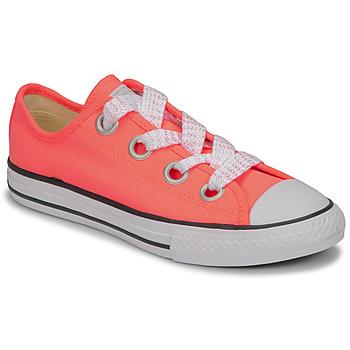 Cipők Lány Rövid szárú edzőcipők Converse CTAS BIG EYELET OX LAVA GLOW/WHITE/BLACK Rózsaszín