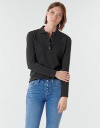 Ruhák Női Hosszú ujjú galléros pólók Lacoste PF5464 Fekete