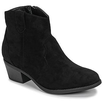 Cipők Női Csizmák Moony Mood NINITE Fekete