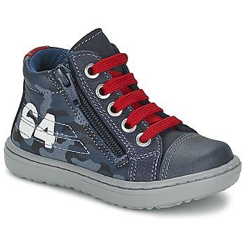 Cipők Fiú Magas szárú edzőcipők Citrouille et Compagnie MINAI Kék