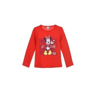 Ruhák Lány Hosszú ujjú pólók TEAM HEROES  MINNIE Piros