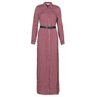 Ruhák Női Hosszú ruhák MICHAEL Michael Kors WARM PLAYFL SHIRT DR Bordó / Fehér / Tengerész