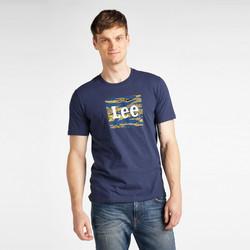 Ruhák Férfi Rövid ujjú pólók Lee T-shirt  Camo Package Dark Navy bleu marine/jaune/blanc