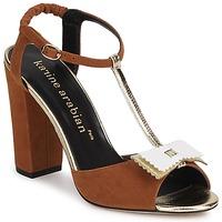 Cipők Női Szandálok / Saruk Karine Arabian ABBAZIA Homokszín / Fehér / Arany