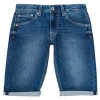 Ruhák Fiú Rövidnadrágok Pepe jeans CASHED SHORT Kék